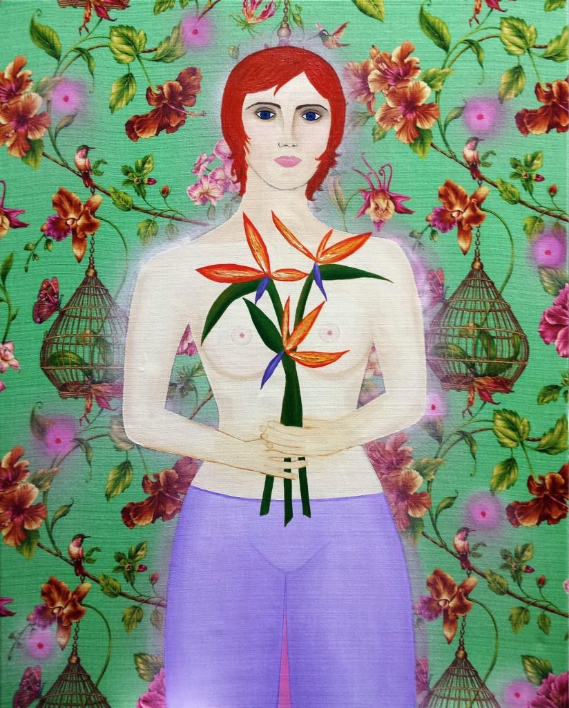 Bird of Paradise I, 100cm x 125cm, 2014