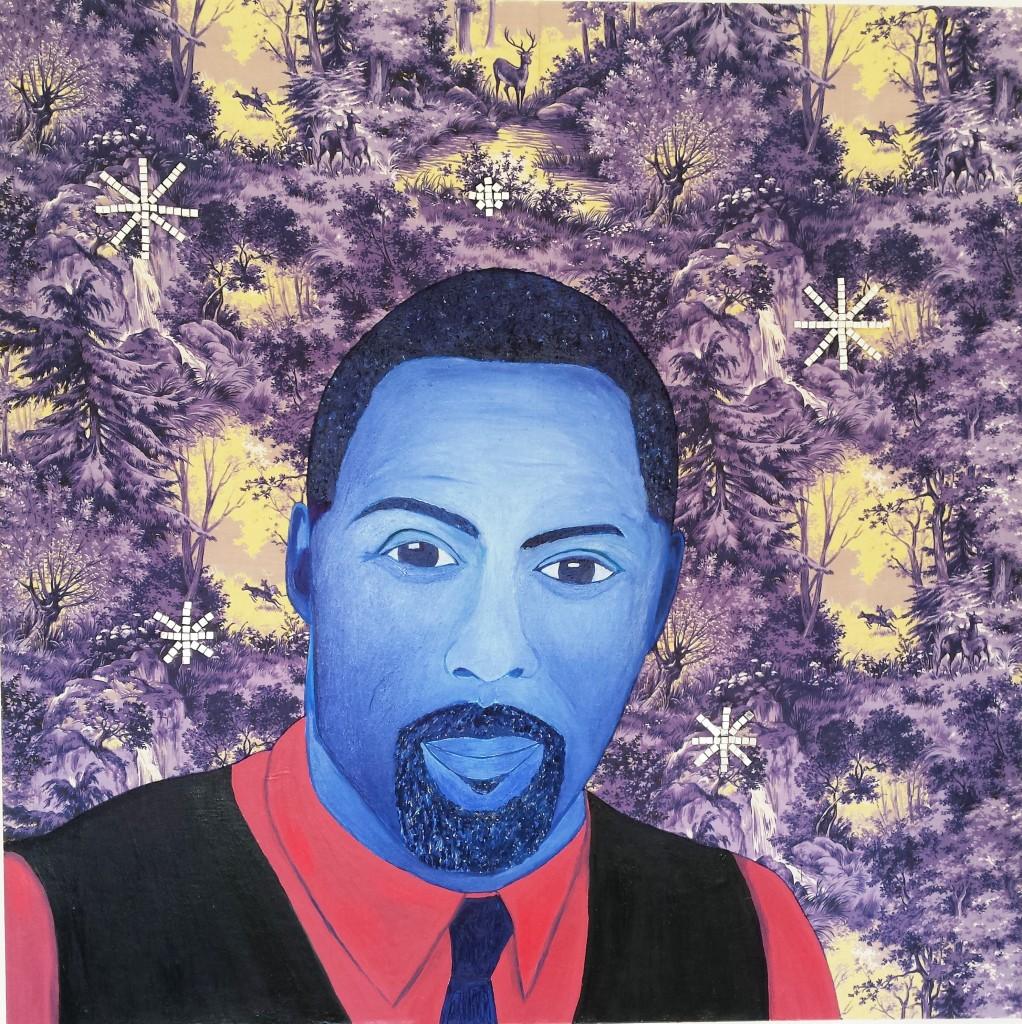 Blue Man, 100cm x 100cm, 2014