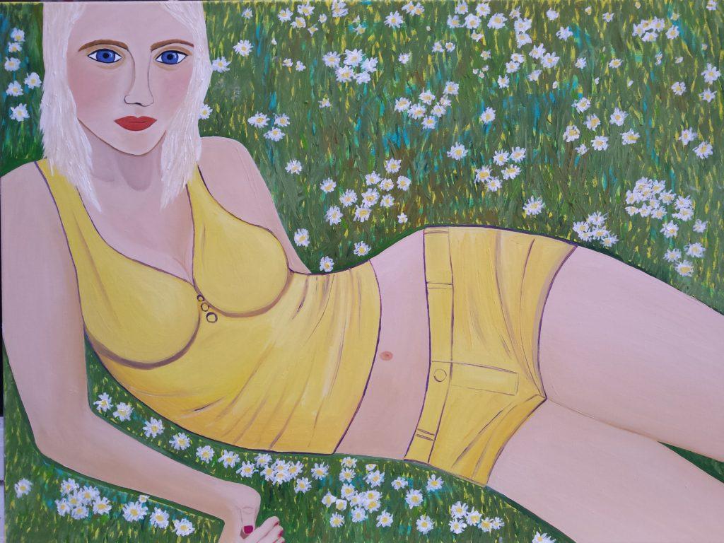 Daisies, oil on canvas, 60cm x 80cm