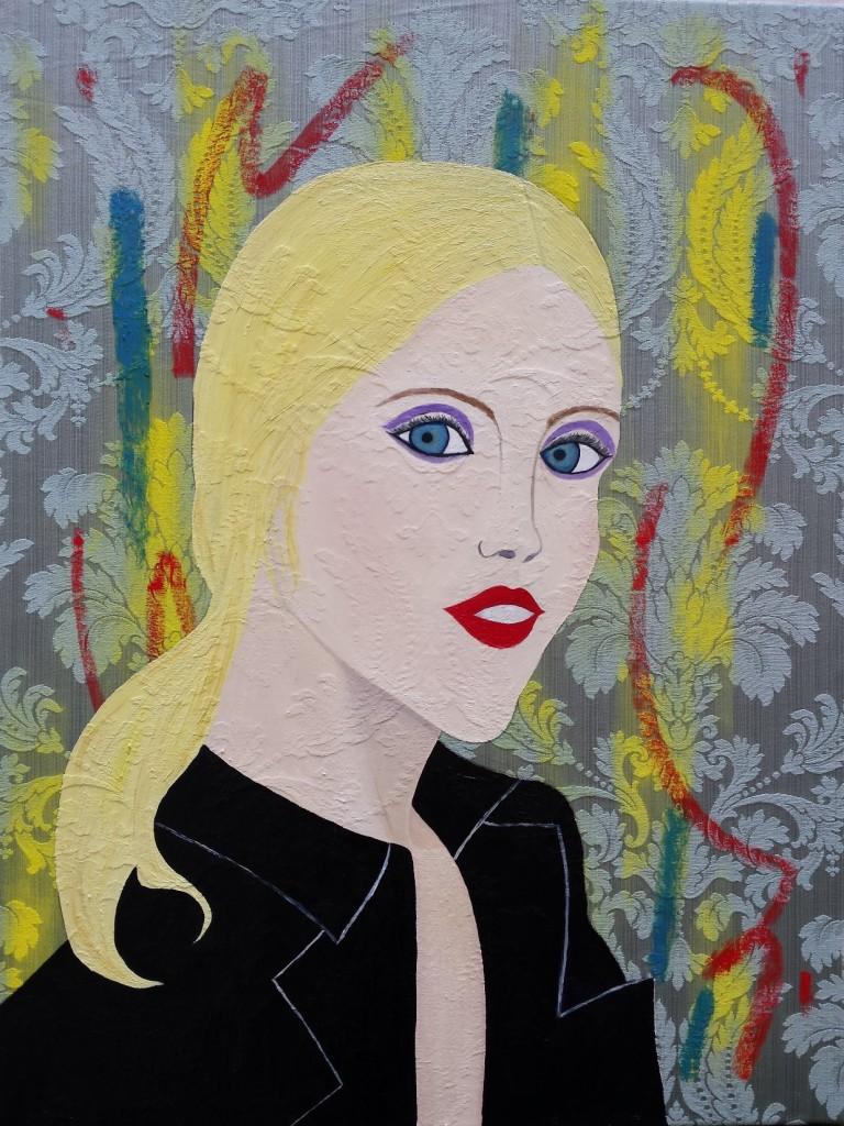 Lemon girl with Parrots, 60 cm x 80cm, 2015
