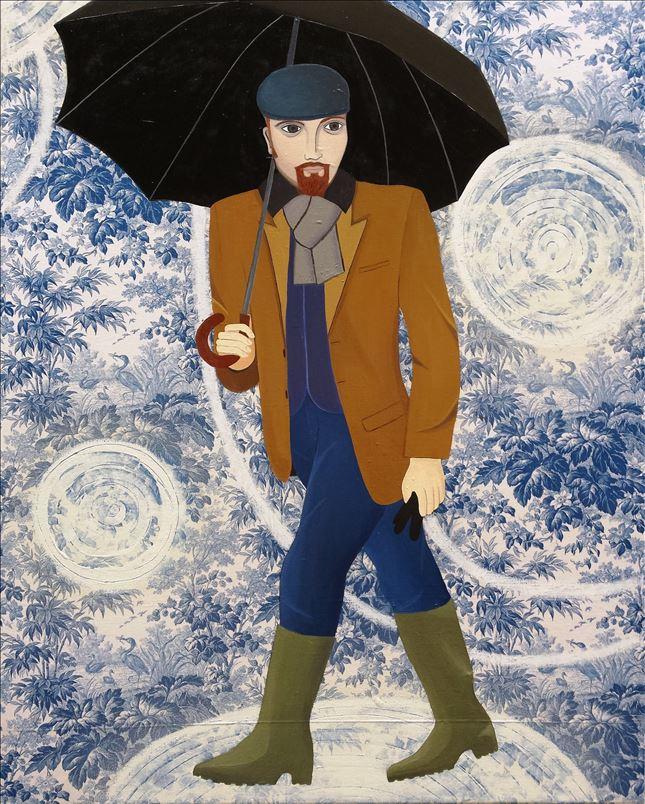 Man with an Umbrella, 100cm x 125cm, 2015