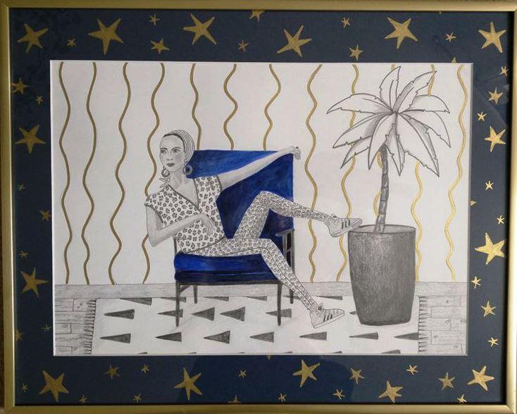 1Nana, drawing, work on paper, 50cm x 40cm