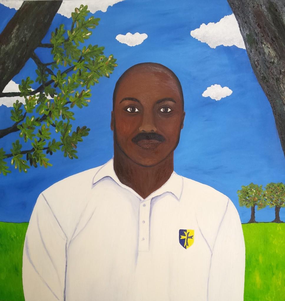 The Cricketer, 100cm x 100cm, 2014